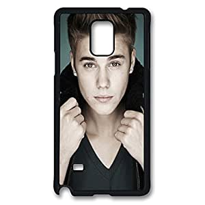 Galaxy Note 4 Case, Justin Bieber Pop Collar Creativity Design Print Pattern Perfection Case [Anti-Slip Feature] [Perfect Slim Fit] Plastic Case Hard Black Covers for Samsung Galaxy Note 4