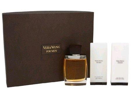 Vera Wang Fragrances for Men Set (Eau De Toilette Spray Plus After Shave Balm Plus Body Wash)