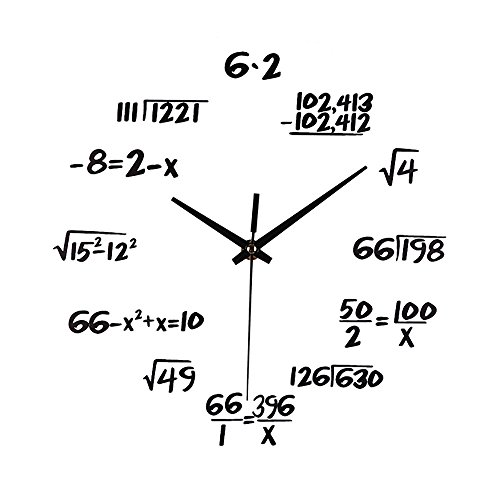 (Redvive Top Silent Math Equations Polytechnic Digital Wall Clock)