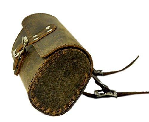 Herte Genuine Leather Bicycle Saddle Bag Utility Tool Bag Brown by Herte (Image #1)