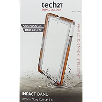 Tech21 Impact Band Case for Sony Xperia Z1s - Retail Packaging - Clear
