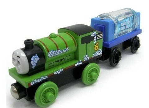 Thomas And Friends Wooden Railway - Percy And The Engine Wash Car (Engine Wash Sodor)