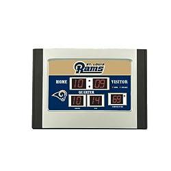 St. Louis Rams Scoreboard Desk Clock
