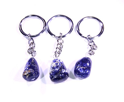Sodalite Keychain Tumbled Gemstone Keychain keychain for men keychain for women (BUY 2, GET 10% OFF)