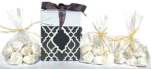COOKIE GIFT CAN QUEEN DELICIOUS TREATS MEXICAN WEDDING CAKES WITH WALNUTS
