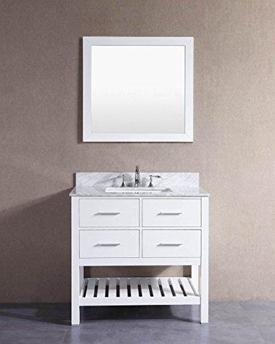 Belvedere bath t9223c bathroom vanity with marble top 36 - Best prices for bathroom vanities ...