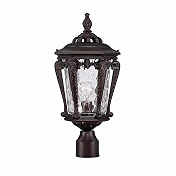 Acclaim 3557ABZ Stratford Collection 1 Light Post Mount Outdoor Light  Fixture, Architectural Bronze