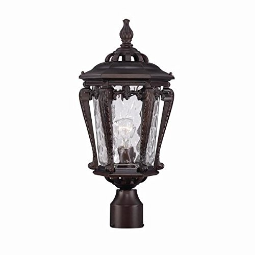 (Acclaim 3557ABZ Stratford Collection 1-Light Post Mount Outdoor Light Fixture, Architectural Bronze)