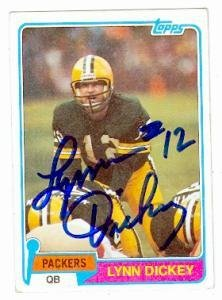 Lynn Dickey autographed Football Card (Green Bay Packers) 1981 Topps #41 - Autographed Football Cards