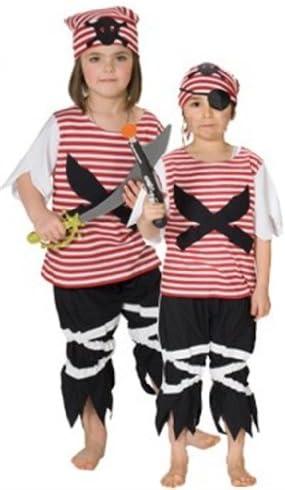 Rubies 1 2132 140 - Disfraz de pirata para niño y niña (talla 140 ...