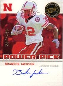 2007 Press Pass RC AUTOgraph Power Picks Brandon Jackson R NFL Footballl Trading Card
