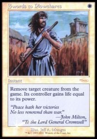 Magic: the Gathering - Swords to Plowshares - FNM 2001 - FNM Promos - Foil