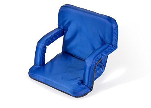 Trademark Innovations Portable Multiuse Adjustable Recliner Stadium Seat Blue