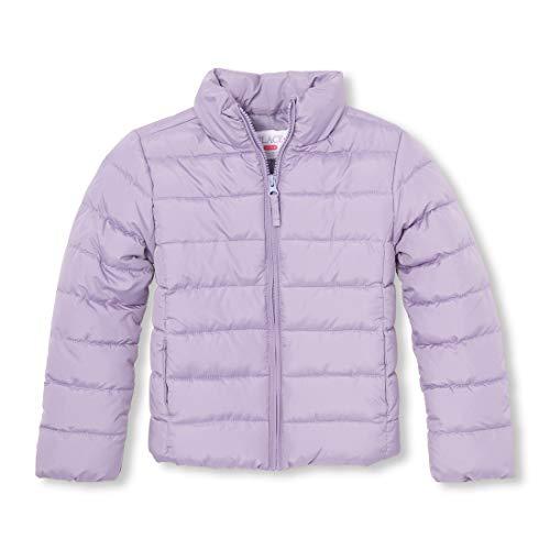 The Children's Place Big Girls' Puffer Jacket, Grape Shadow, XS (4)