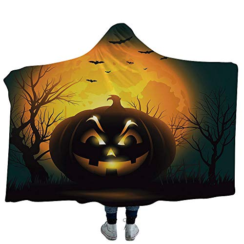 VOUCHERS Baby Hooded Blanket for Boys Girls,Halloween,Soft Fluffy Minky Warm Cover Relieves Anxiety Stress Insomnia -