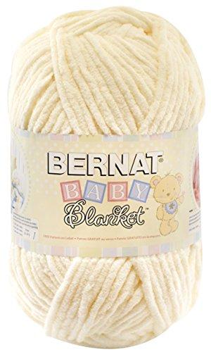 Bernat  Baby Blanket Yarn - (6) Super Bulky Gauge  - 10.5 oz -  Vanilla  - Single Ball  Machine Wash & Dry