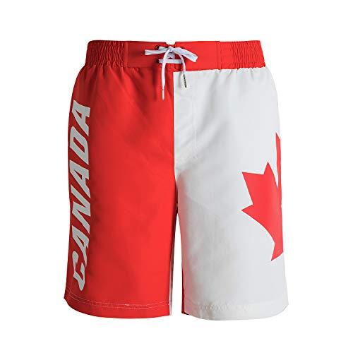 canada flag shorts - 1