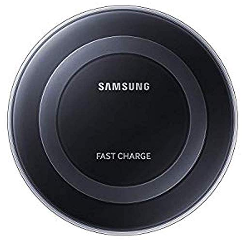 Samsung Qi Certified Fast Charge Wireless Charging Pad for Qi Compatible Smartphones with Built-in Cool Fan - Retail Packaging - Black (Renewed)