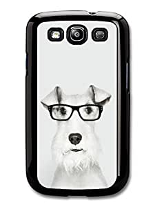 AMAF ? Accessories Funny Wire Fox Terrier With Glasses case for Samsung Galaxy S3
