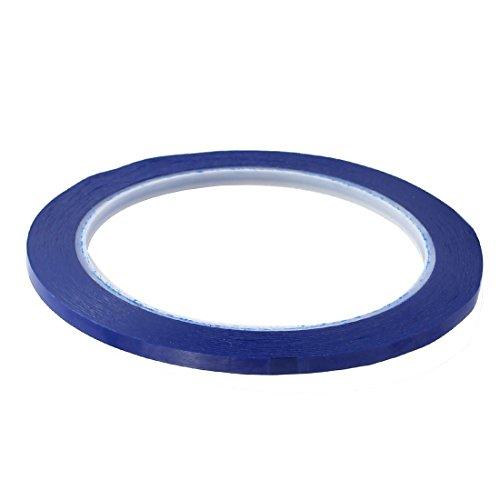 eDealMax 2pcs 4 mm x 66M precaución de seguridad reflectante de advertencia de la Cinta adhesiva Azul etiqueta