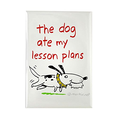 CafePress - the dog ate my lesson plans! Rectangle Magnet - Rectangle Magnet, 2