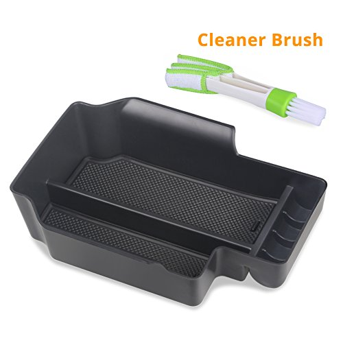 VANJING Center Console Insert Organizer Tray for 2015-2018 Chevy Colorado GMC Canyon Accessories with A Free Car Cleaner Brush