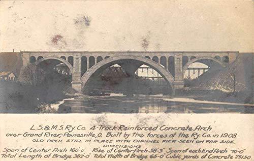 Painesville Ohio Grand River Bridge Real Photo Antique Postcard K106151