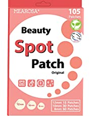 MEAROSA Acne Pimple Patch 105 dots - VEGEN, Absorbing cover, Hydrocolloid Blemish Spot Patch Beauty Spot Patch Three Size,Tea Tree Oil, All skin type (105 Patches)