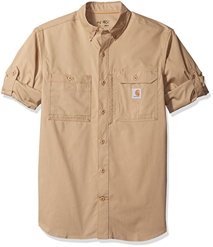 Carhartt Men's Force Ridgefield Long Sleeve Shirt (Regular and Big & Tall Sizes), Dark Khaki, 2X-Large