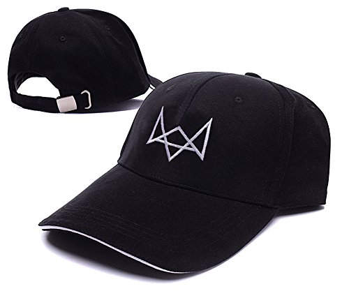 JIUWEI Watch Dogs Fox Logo Adjustable Baseball Caps Unisex Snapback Embroidery Hats