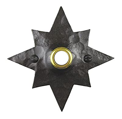 Rustic Hammered Star Wrought Iron Doorbell Cover D5