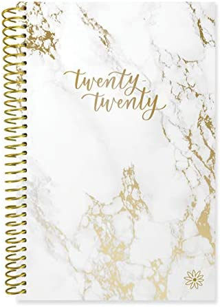 """bloom daily planners 2020 Calendar Year Day Planner (January 2020 – December 2020) – 6"""" x 8.25"""" – Weekly/Monthly Agenda Organizer Book with Tabs & Flexible Soft Cover– Marble – The Super Cheap"""