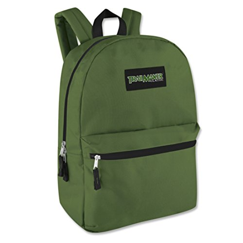 17 Trailmaker Backpack Bookbag,One Size,Green ()