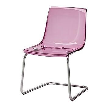 Schreibtischstuhl ikea lila  IKEA TOBIAS - Stuhl, lila, verchromt: Amazon.de: Küche & Haushalt