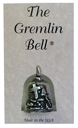 The Gremlin Bell Jesus Rides With Me Pewter Good Luck Charm with Pouch and 2 Attachments and Story Card (Jesus Rides with Me)