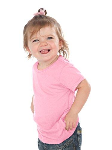 Kavio! Unisex Infants Crew Neck Short Sleeve Tee (Same IJP0493) Bubblegum Pink 6M