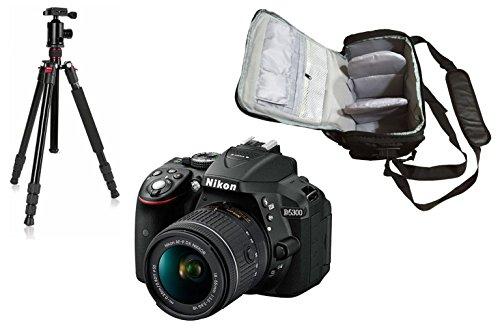 D5300 DSLR Camera + AF-P 18-55mm VR Lens + KamKorda Pro Camera Bag + Advanced Camera Tripod