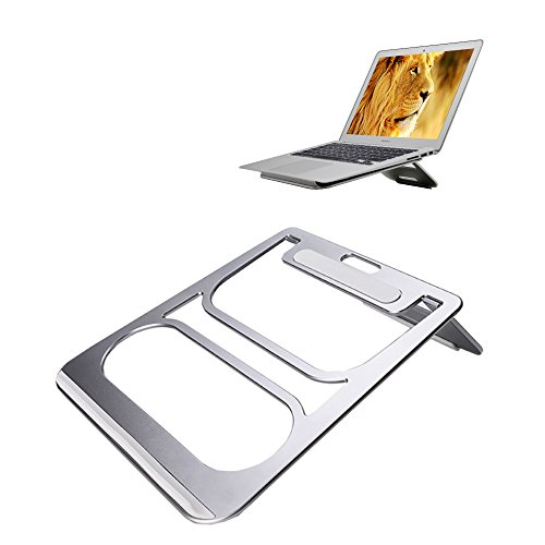 """- Laptop Stand,Folding Laptop Stand Laptop Stand Portable Foladable Laptop Stand Adjustable Notebook Stand Natural Airflow Aluminum Laptop Cooling Stand for Any 7-17"""" Laptop,Notebook(Silver)"""