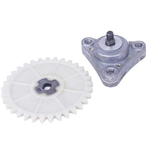 Glixal ATMT1-108 GY6 49cc 50cc 139QMB 139QMA Oil Pump Assy with 33-Tooth Gear Sprocket for Chinese Gas Scooter Moped ATV Go Kart