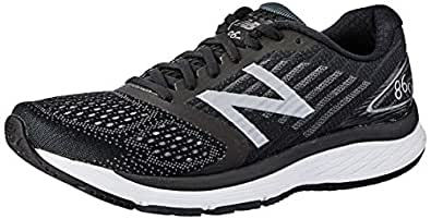 New Balance Men's 860 V9 Running Shoe, Black, 8 US (Wide)