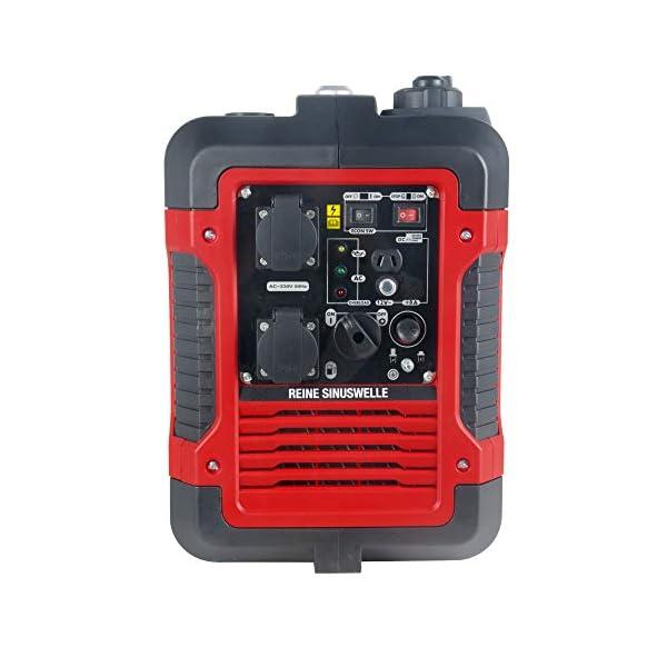 41bAovC3OoL Matrix Inverter Stromgenerator mit USB, Benzin leise, 4 takt, 2000 Watt, für Camping und Garage
