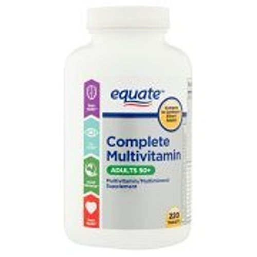 Cheap Equate Mature Multivitamin A Thru Z Adults 50 Tablets Dietary Supplement, 220 ct