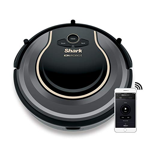 Shark ION Robot Vacuum WIFI-Connected, Voice Control Dual-Action Robotic Vacuum Carpet and Hard Floor Cleaner, Compatible with Alexa (RV750) (Certified Refurbished)