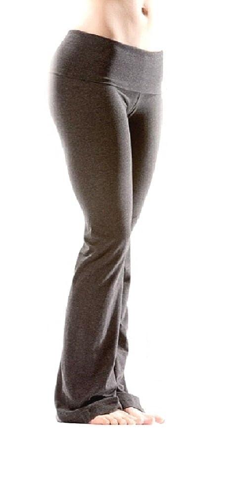 513acb57fb Amazon.com: Hard Tail Foldover Bootcut Yoga Pants with Hard Tail Logo -  Dark Charcoal 330 XS: Clothing