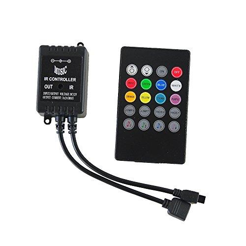 20 Key Mini IR Music Remote Controller +RGB Music Control Box For 12 V DC 5050 RGB LED Strip Light -  Kyodoled