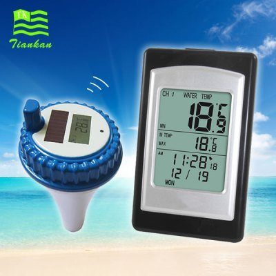 Remote Wireless Pool SPA Hot Tub Thermometer w/ Indoor Display Readout Degrees F C 300 Feet