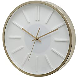 Unity Missouri White Dial Wall Clock with Gold Case - 35cm/14-Inch