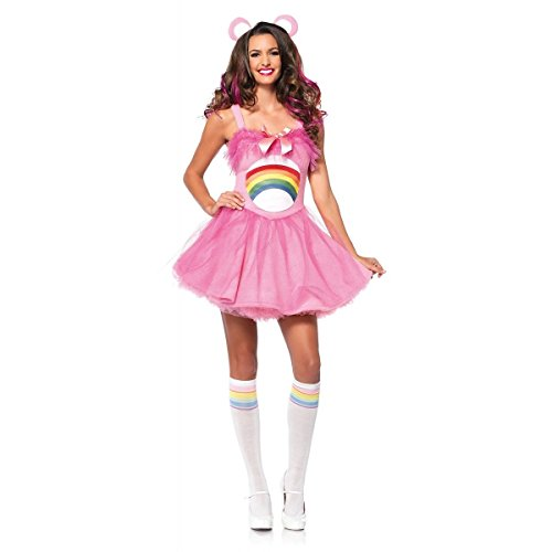 MutterMui Care Bear Costume Adult 80s Halloween Fancy Dress Cheer Bear Pink Medium (Adult Care Bears Cheer Bear Costume)