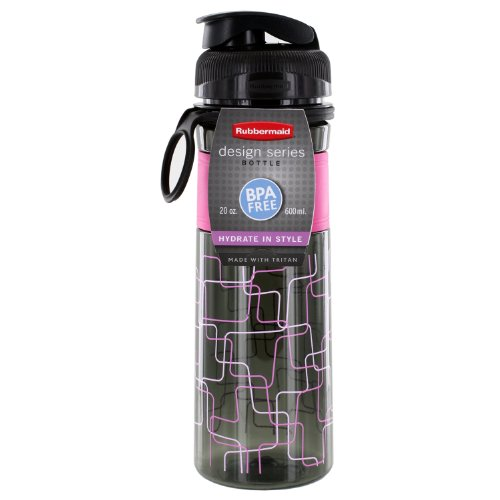 Rubbermaid Design Series Hydration 20 oz. Reusable Water Sports Bottle (Pink) - Series Kitchen Spout