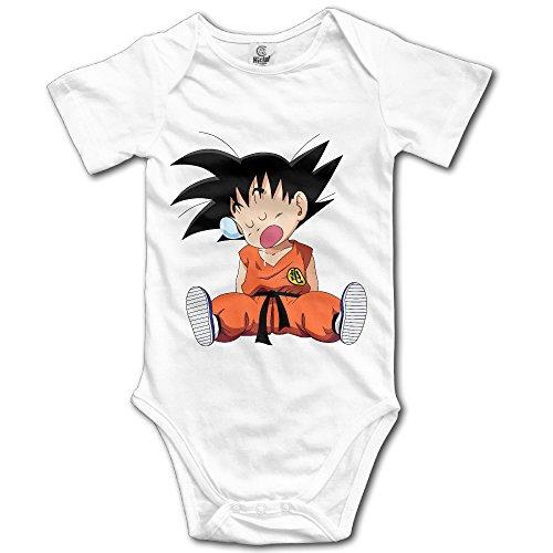 Cute Cartoon Dragon Ball Z Kid Goku Newborn Baby Onesie Baby Outfits ()